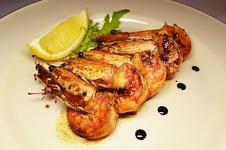 Thumb giganskie krevetki gril